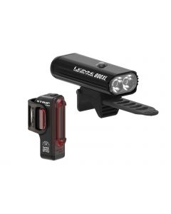 Lezyne Micro Pro 800XL / Strip Drive lightningset-Black