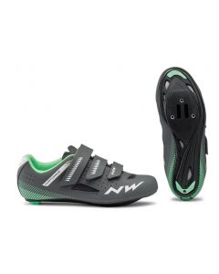 Northwave Core ladies Roadracing shoes-Anthracite-Light green-36