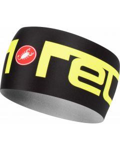 Castelli Viva 2 Thermo headband-Black-Yellow fluo