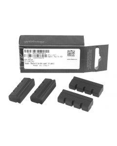 Campagnolo BR-RESR Super Record old style brake pads (4 pieces)-Black