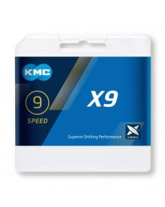 KMC X9 9sp chain-Silver