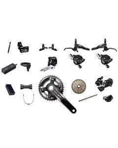Shimano XT M8050 11sp double kit-Black-175mm 36x26