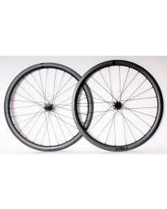 KRU C-38D carbon disc wheelset-Black