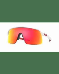 Oakley Sutro Lite glasses-Matt white-Prizm ruby